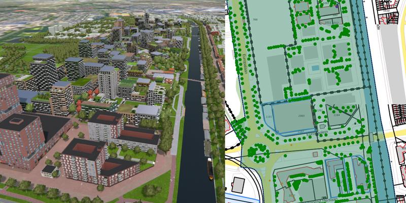 3D model Merwedekanaalzone, Utrecht