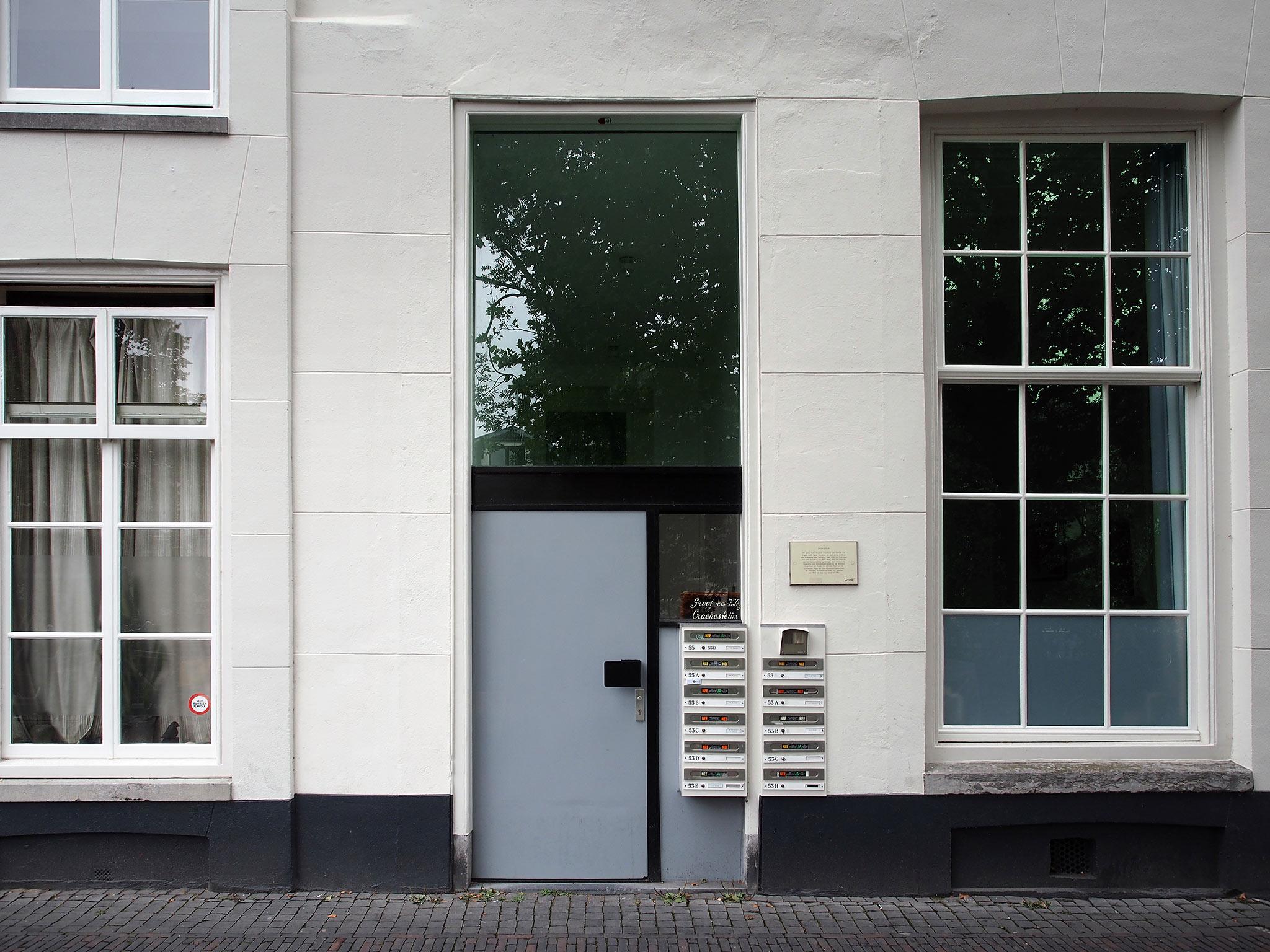Entree Oudegracht 55. Foto: Arjan den Boer