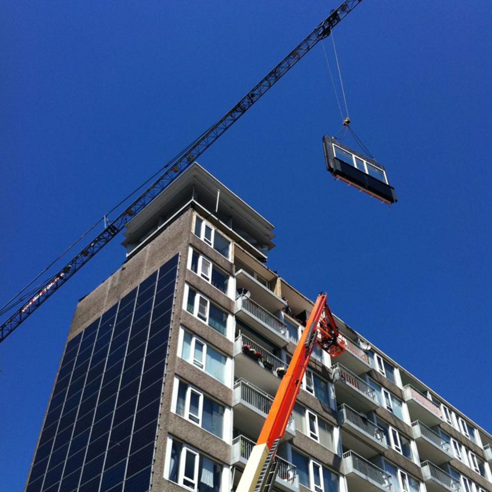 Proefwoning van het project Inside-Out in Utrecht. In deze huurwoning van woningcorporatie Bo-Ex zijn veel energiebesparende maatregelen toegepast.
